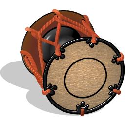 和風アイテム1 鼓アイコンのダウンロード 和風アイコン素材集